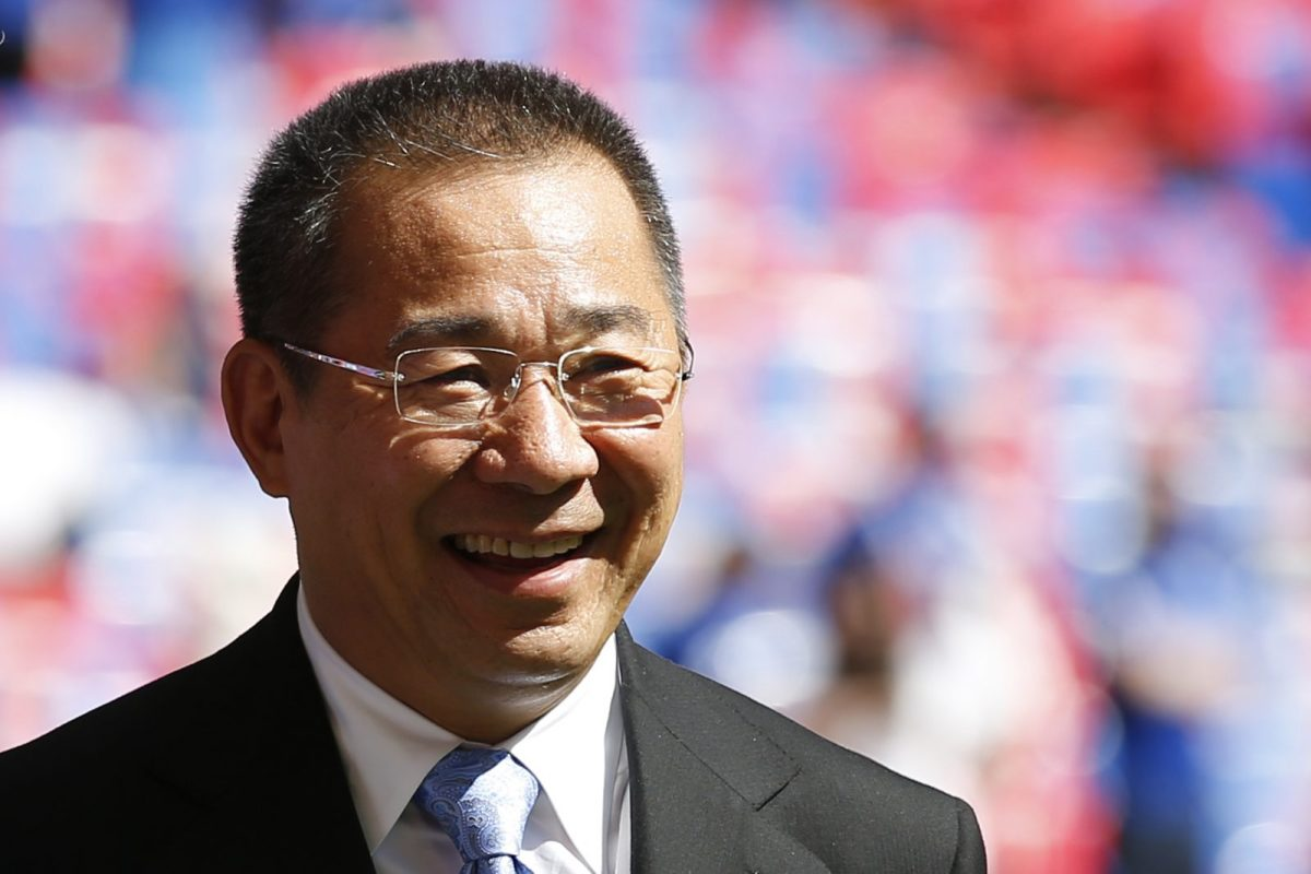 Vichai Srivaddhanaprabha, Leicester City's Thai owner, was killed on Saturday. Photo: AFP