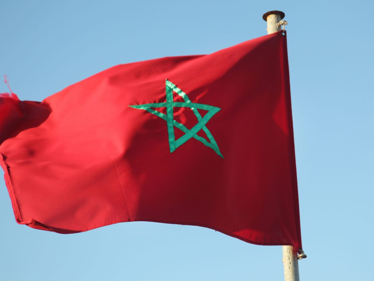 Moroccan flag seen in Casablanca, Morocco, Africa. (Photo by Creative Touch Imaging Ltd./NurPhoto)