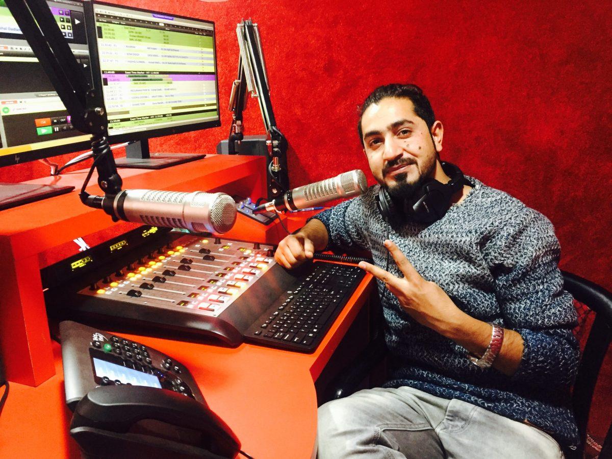 Kashmir radio host Mohammad Rafiq Pir at Red FM. Photo: Majid Hyderi