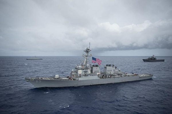 The US destroyer Benfold passed through the Taiwan Strait in July. Photo: US Navy