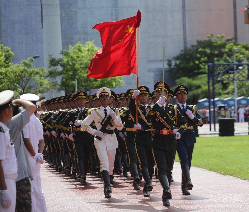 PLA troops in Hong Kong. Photo: Xinhua