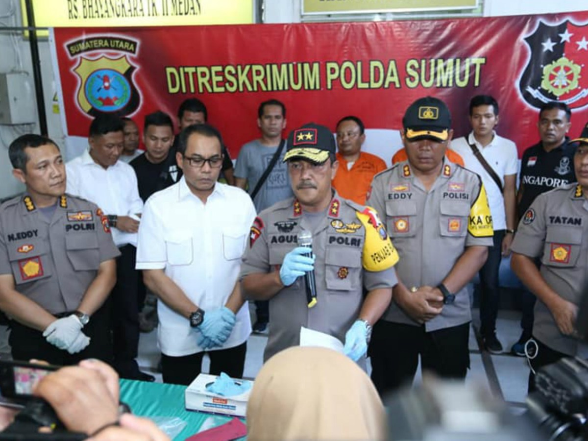 Indonesian police spoke about the case at a press conference. Photo: Courtesy of the Indonesian Police