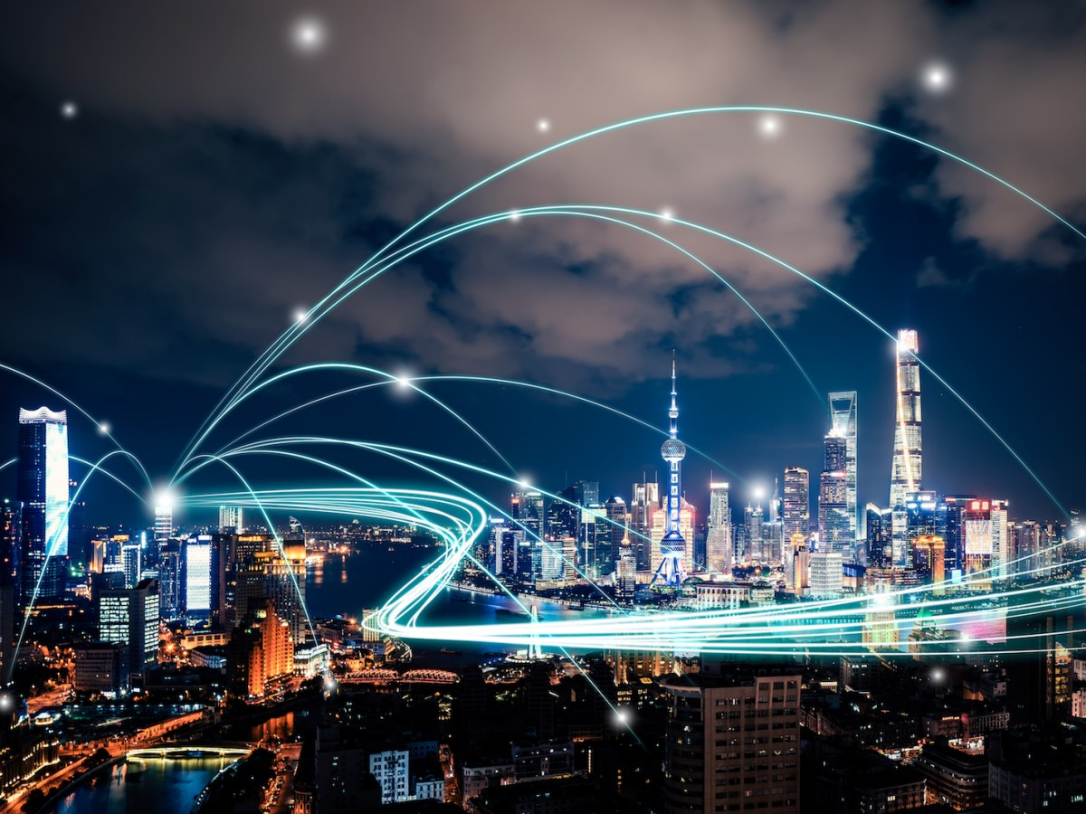 Shanghai and computer connectivity. Image: iStock