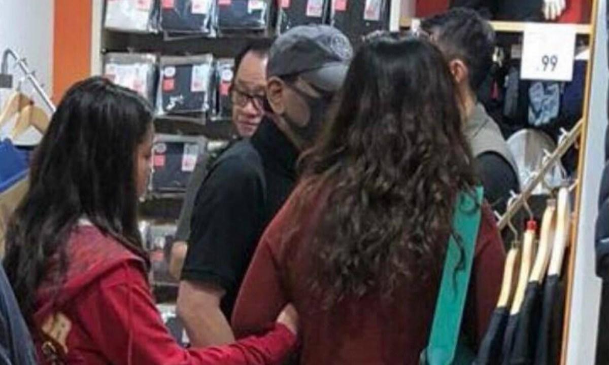 Rodrigo Duterte was seen shopping in Hong Kong with his family. Photo: Facebook, Ellen Tordesillas