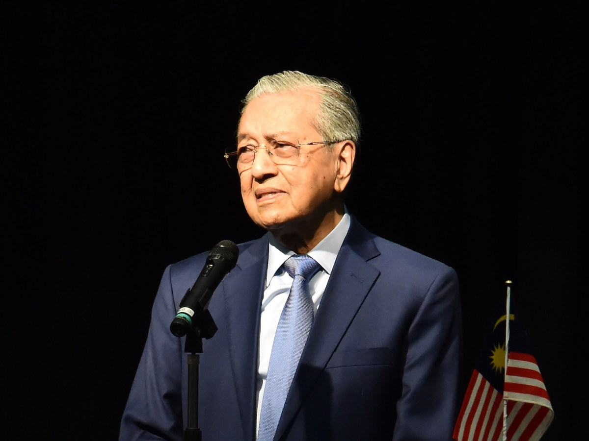 Malaysiaís Prime Minister Mahathir Mohamad gives a special lecture at the Diet Building in Tokyo on June 12, 2018. This is Mahathir Mohamadís first overseas visit after winning the 14th General Election as the 7th Prime Minister of Malaysia.( The Yomiuri Shimbun )