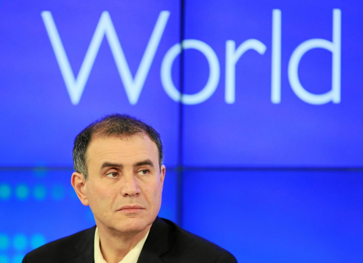 Professor Nouriel Roubini, who was given the nickname 'Dr. Doom' for his ultimately correct predictions about the 2008 financial crisis, argues blockchain is not about decentralization and democracy but about greed. Photo: World Economic Forum