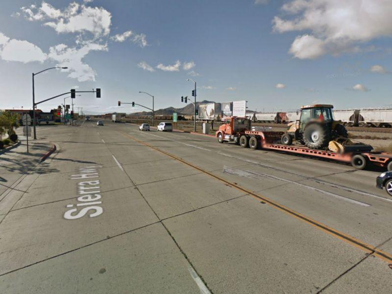 Antelope Valley Freeway in Palmdale, California. Photo: Google Maps