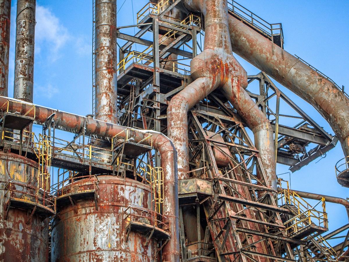 An abandoned steel mill in Bethlehem, Pennsylvania, US. Photo: iStock