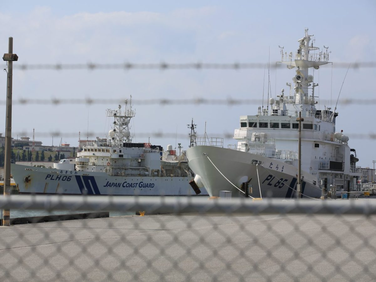 Japan Maritime Self-Defense Force ships in Okinawa. The force is in charge of security in the Ryukyu and Senkaku islands which are claimed by China. Photo: iStock