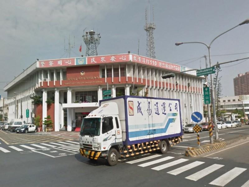 Gangshan Precinct of Kaohsiung City Government Police Bureau, Taiwan. Photo: Google Maps