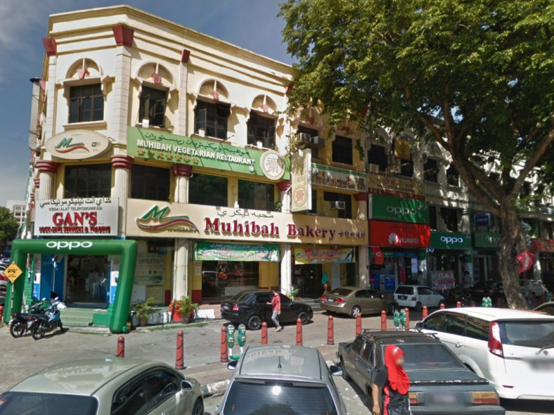 The bakery where the robbery took place in Kota Bharu, Kelantan, Malaysia. Photo: Google Maps