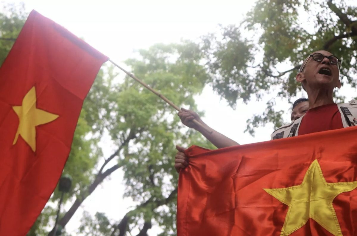 Protestors raise their voices in Vietnam in a file photo. Photo: AFP/Mai Ky