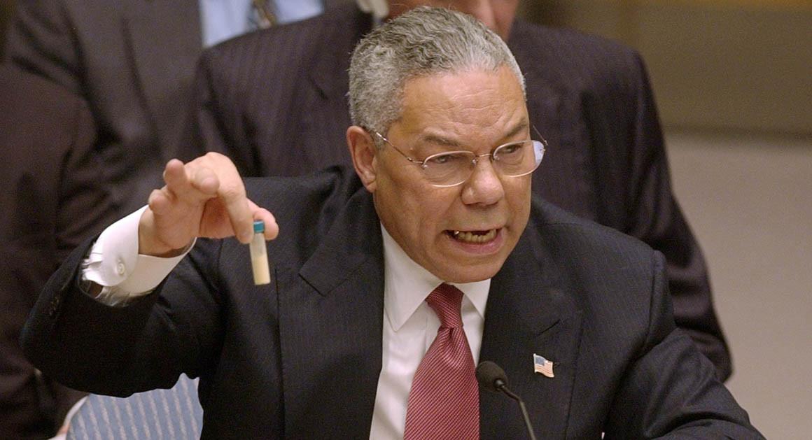 Colin Powell and the WMD false flag.