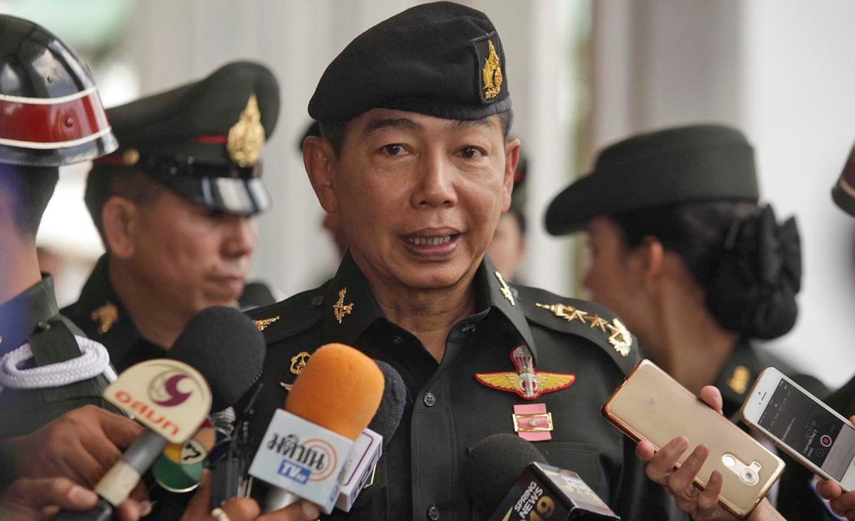 Thailand's army chief General Apirat Kongsompong. Photo: Bangkok Post/ Pornprom Satrabhaya / via AFP