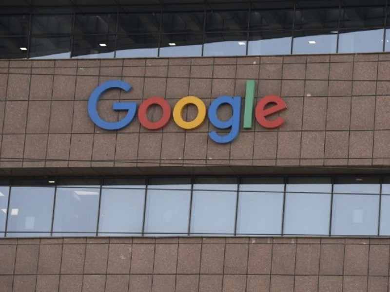 A Google India office building in Hyderabad:  AFP