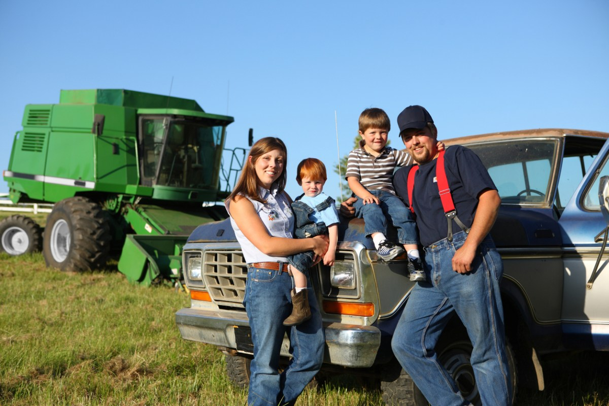 American farm family. Photo: iStock