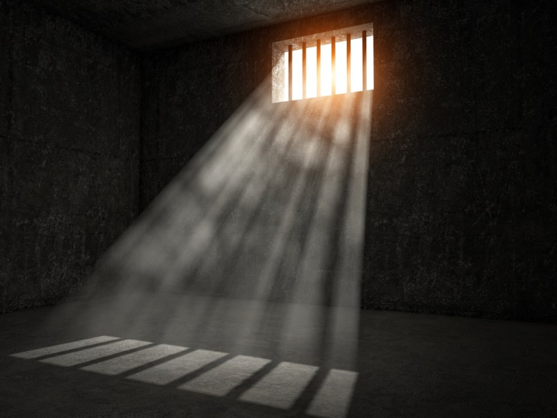 windows jail and sun rays 3d image. Image: iStock