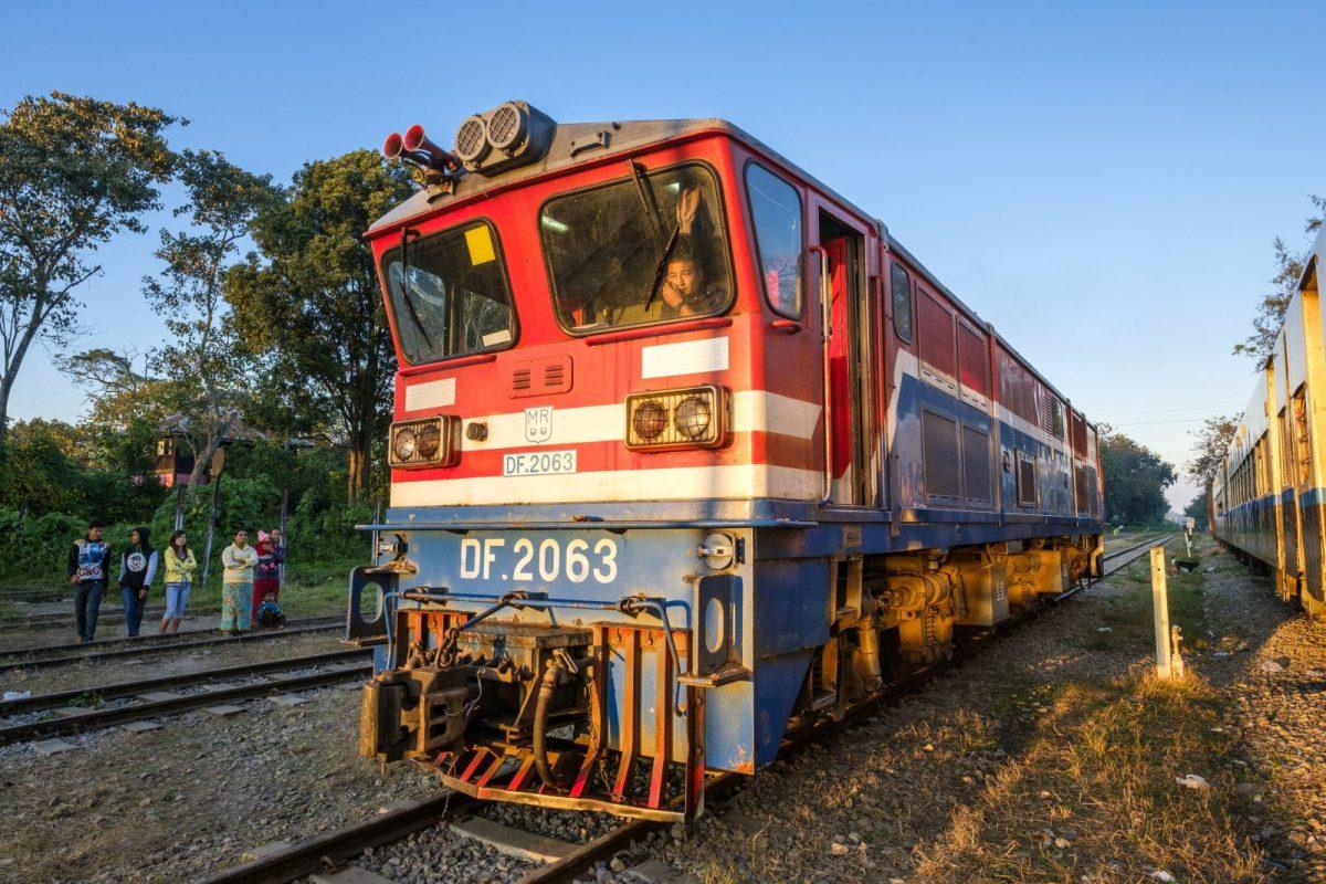 The railway station on the Mandalay-Lashio line in northern Myanmar. Photo: AFP