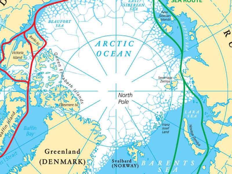 穿過北極圈的環形路線。相片:iStock / Getty