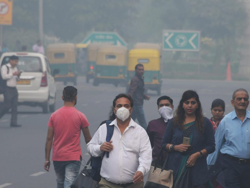 Heavy smog affects New Delhi on November 5, 2018. Photo: AFP/Dominique Faget
