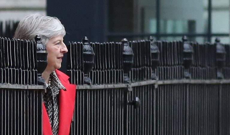British Prime Minister Theresa May leaves 10 Downing Street in central London on November 16. Photo: AFP
