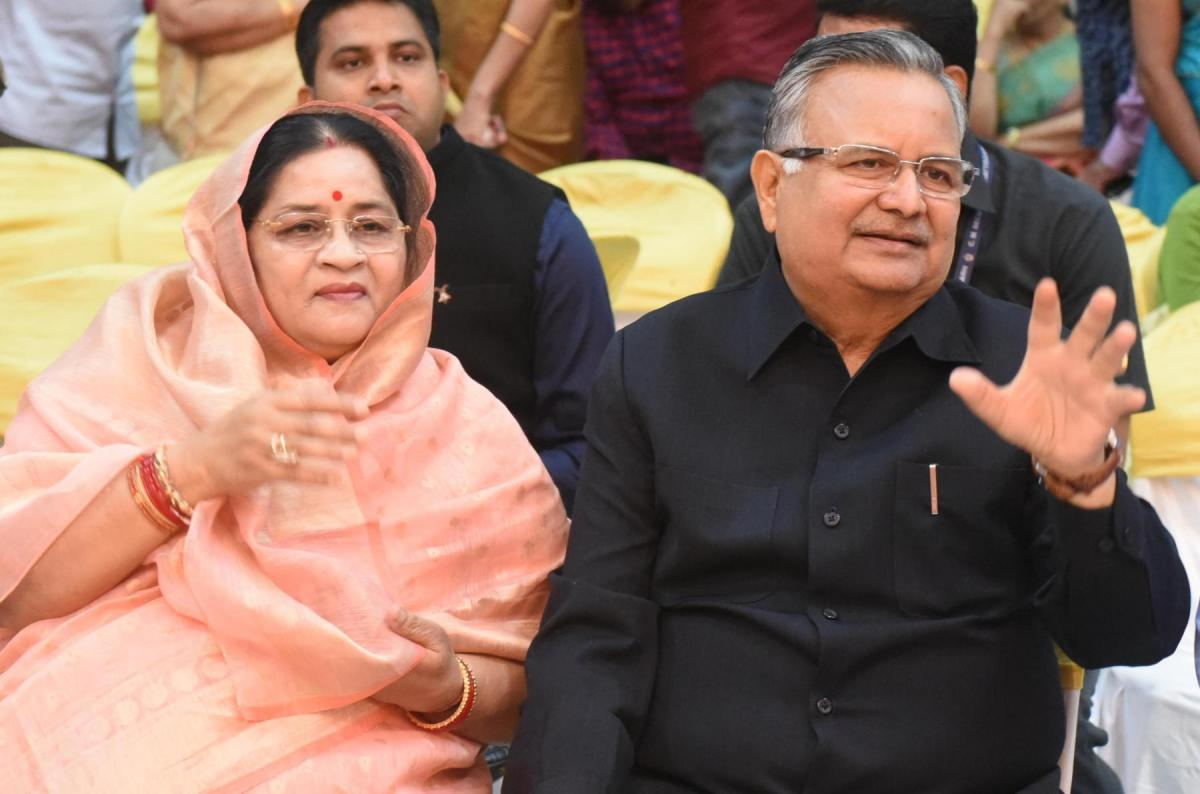 Chhattisgarh Chief Minister Raman Singh and his wife Veena. Photo: Times of India