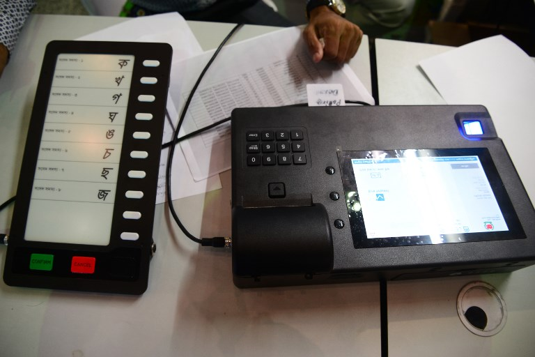 Electronic Voting Machine (EVM) in Dhaka, Bangladesh. Photo: AFP,Mamunur Rashid/NurPhoto