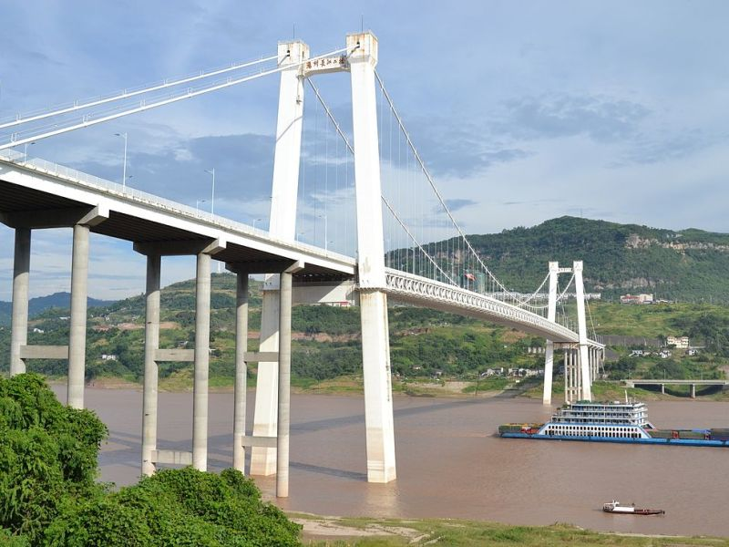 A file photo of the bridge spanning the Yangtze River in Chongqing. Photo: WikiMedia