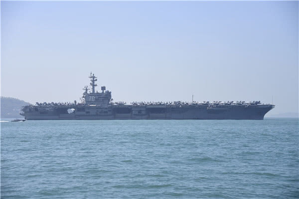 US supercarrier Ronald Reagan sails into Hong Kong on Wednesday. Photo: Facebook