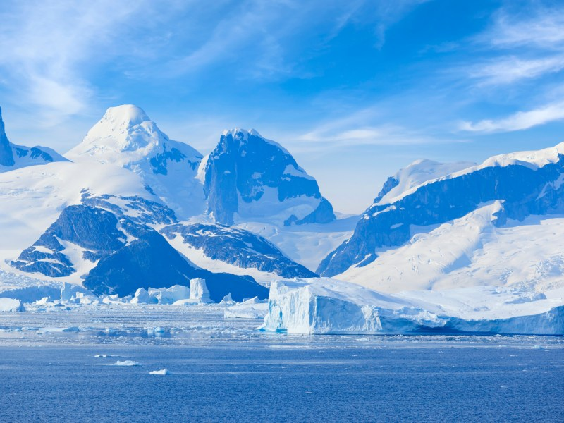 The breathtaking Antarctica Lemaire Channel Mountain. Photo: iStock