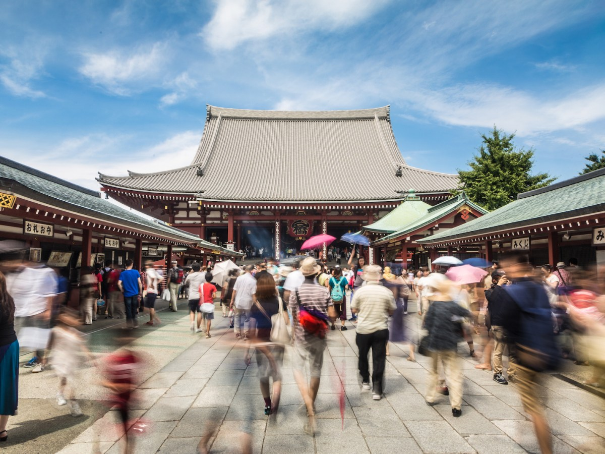 The famous Senso-ji Buddhist temple in the Asakusa historic district of Tokyo is a hot tourism spot. But then these are heady times for tourism. In 2017, a record 28.7 million people visited Japan. Photo: iStock