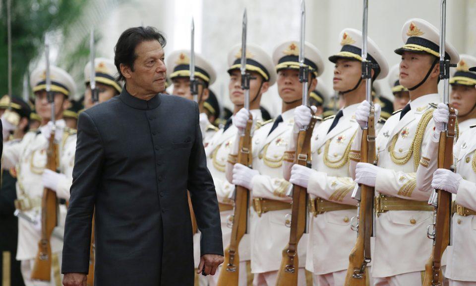 巴基斯坦總理伊姆蘭汗於2018年11月3日在北京出席歡迎儀式。相片:AFP / Jason Lee / pool