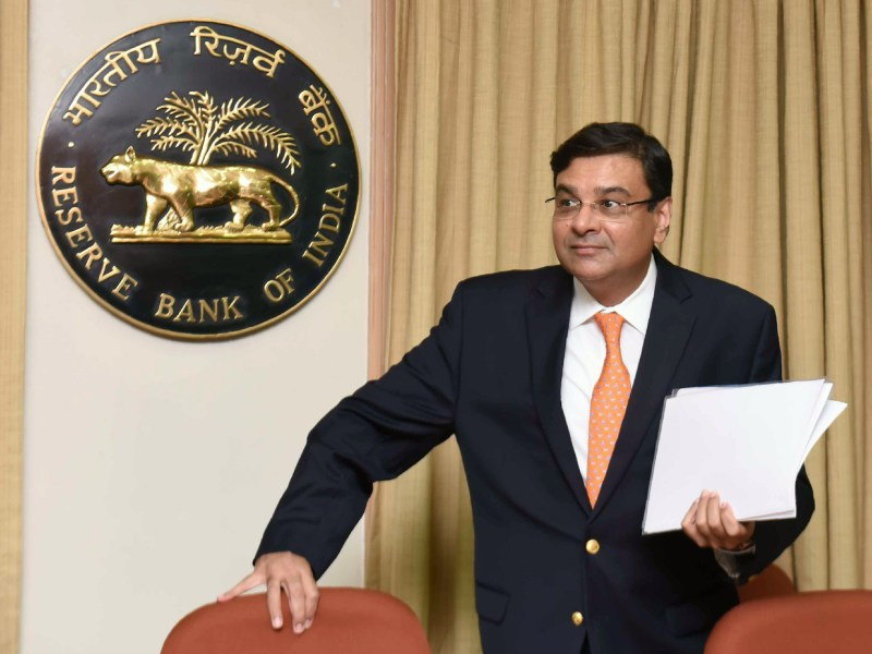Reserve Bank of India Governor Urjit Patel arrives for a news conference at the bank's head office in Mumbai on June 6, 2018. He met with the PM this week prior to Monday's long board meeting. Photo: AFP
