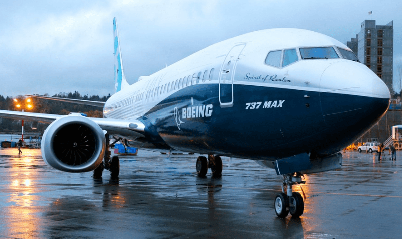A Boeing 737 MAX 8 jetliner. Photo: Twitter