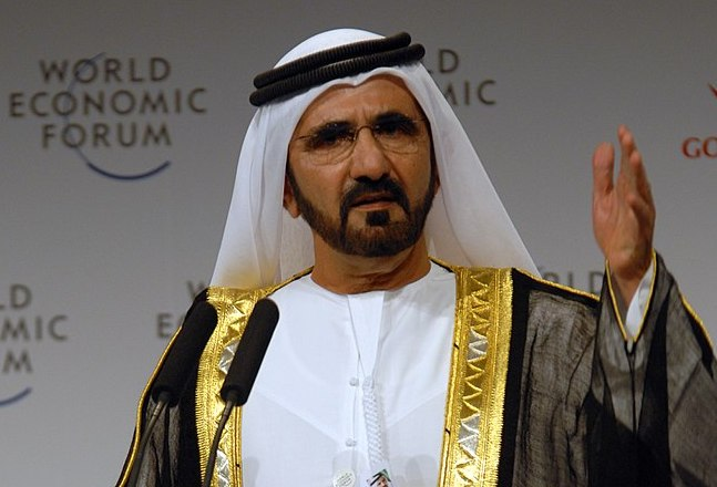 Sheikh Mohammed bin Rashid Al Maktoum, vice-president and prime minister of the UAE, at the  Summit on the Global Agenda, November 2008. Photo: World Economic Forum / Norbert Schiller via Wikipedia