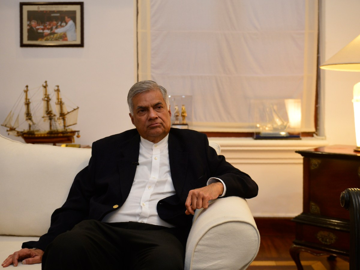 Ranil Wickremesinghe is seen on November 2, days after he was ousted as prime minister in Sri Lanka. Photo: AFP / Lakruwan Wanniarachchi