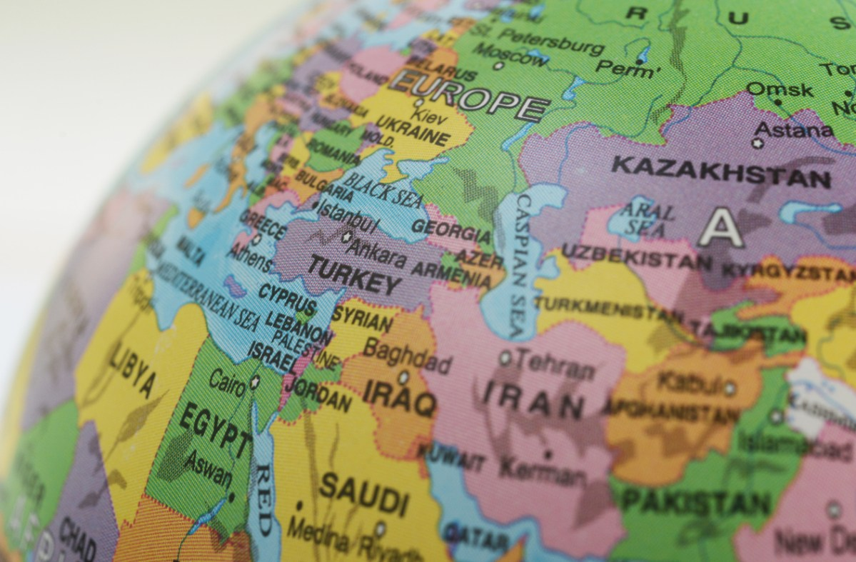 Asia and Europe Map: iStock