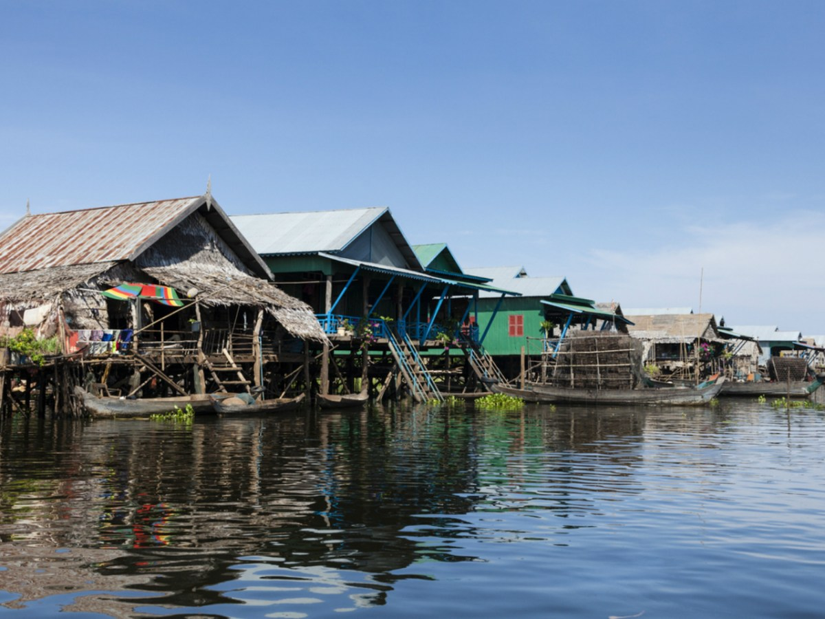 A floating village on the Tonle Sap Lake. Photo: iStock