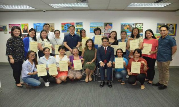 Art exhibit entitled 'Silid Sining: Unlocking Pinay Creativity' featuring artworks by Filipino workers in Hong Kong Photo: Philippine Consulate General in Hong Kong's Facebook