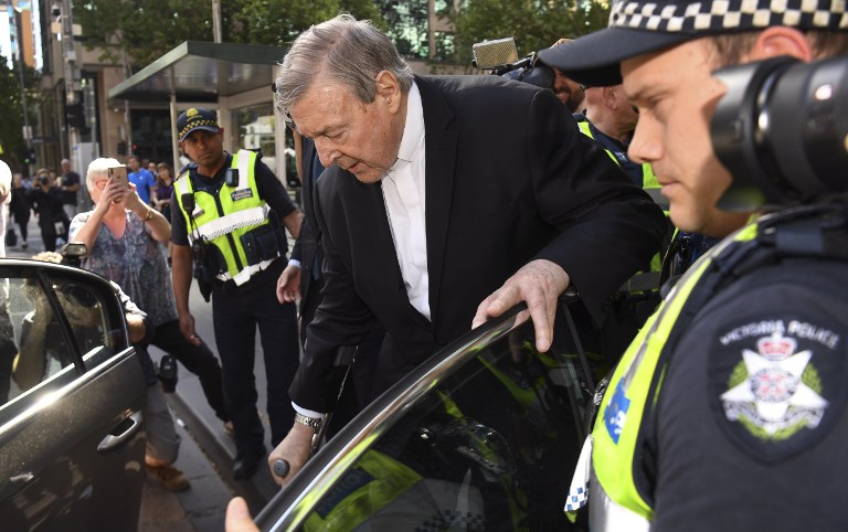 Cardinal George Pell is being prosecuted for child sexual offences in Melbourne, Australia. Photo: AFP