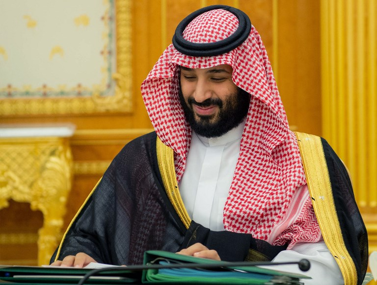 Crown Prince Mohammed bin Salman at Saudi Arabia's 2019 budget meeting in Riyadh. Photo: AFP