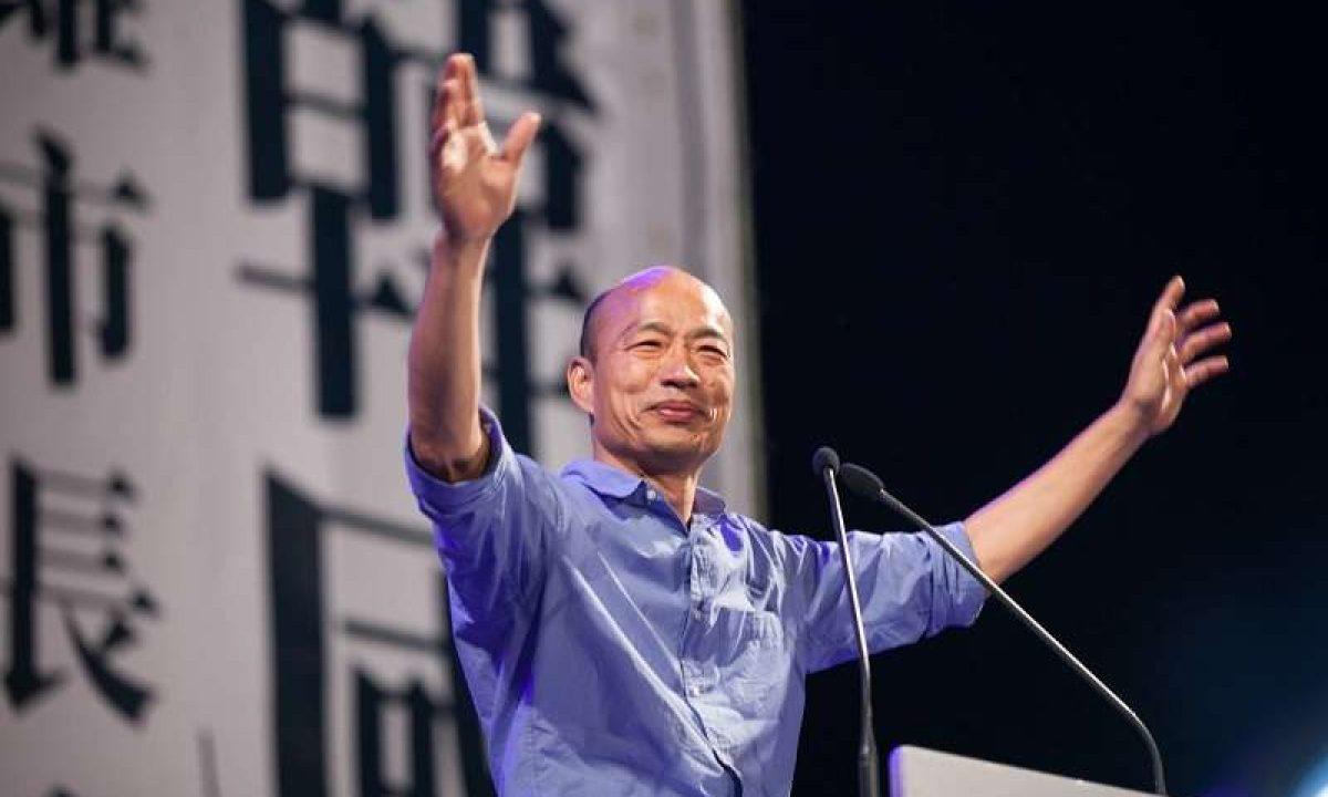 國民黨的韓國瑜是一位擅長通過社交網絡平台吸引年輕選民的演說家,他成為高雄幾十年來第一位非民進黨的市長。高雄是台灣第二大城市,曾經是民進黨的據點。相片:Facebook
