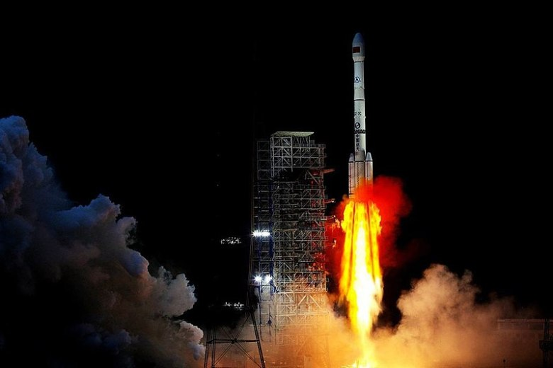 Launch of Chang'e 4 on December 7 from China's Xichang satellite launch center in western Sichuan province.  Photo: Xinhua