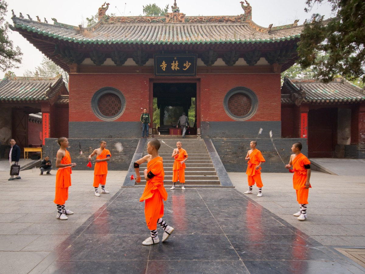 Young monks practise kung fu at the Shaolin Temple in Dengfeng in Henan Province, China. Photo: iStock