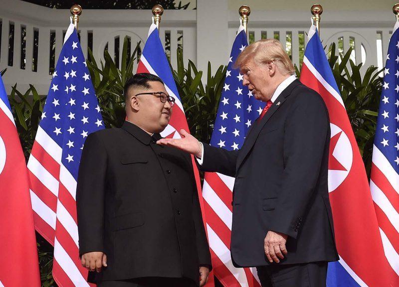 美國總統特朗普於2018年6月12日在新加坡會見了北韓領袖金正恩。相片:AFP / Saul Loeb