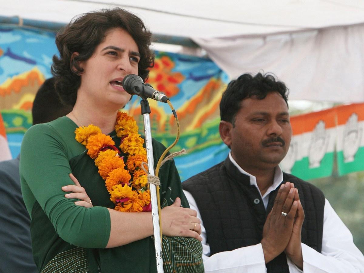 Priyanka Gandhi speaking in Uttar Pradesh in 2012. Photo: The Times of India