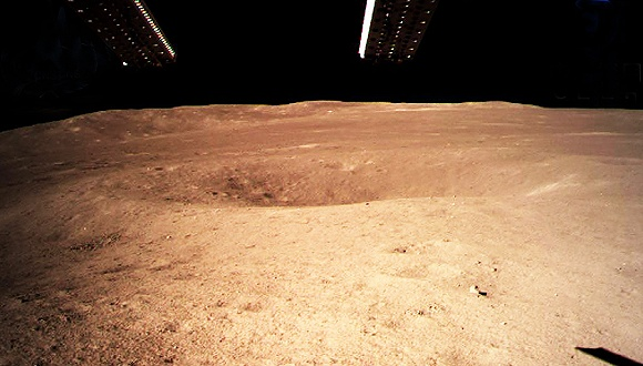 A close-up of the moon's far side, taken by a camera atop the Chang'e-4 lunar probe. Photo: Xinhua
