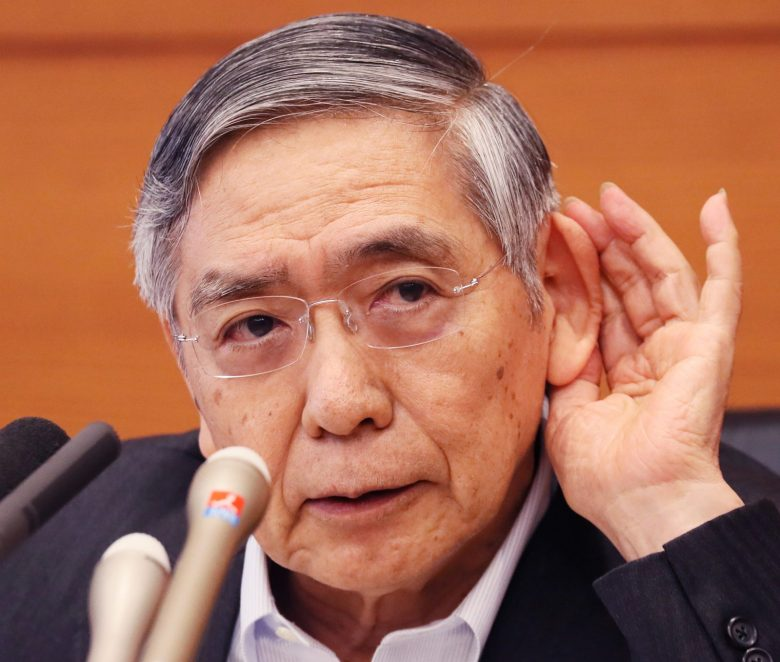 Bank of Japan Governor Haruhiko Kuroda is listening closely and watching the financial markets and the yen's strength. Photo: AFP/The Yomiuri Shimbun