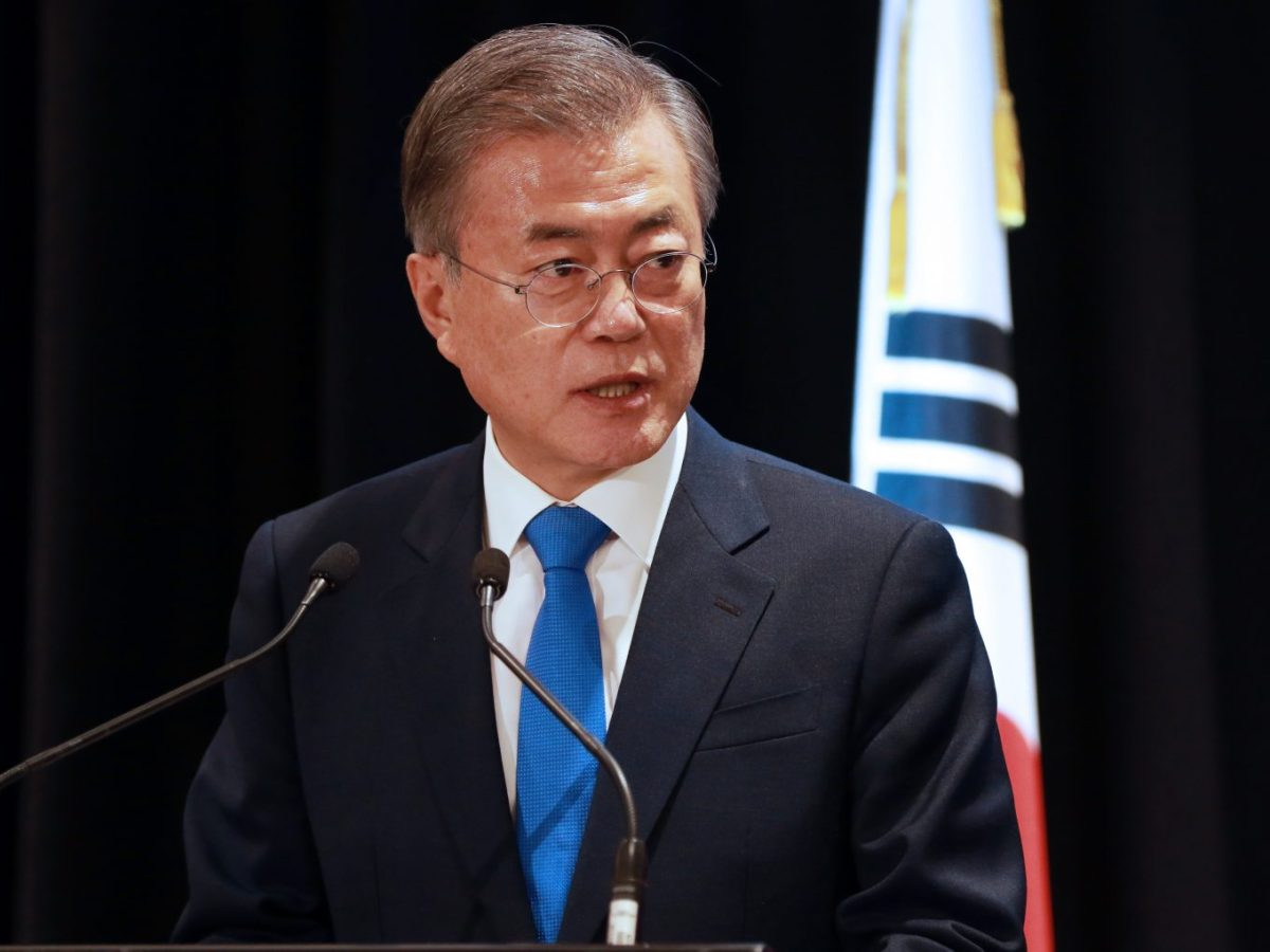 South Korea's President Moon Jae-in may be in for a tough year. Photo: AFPDiego Opatowski