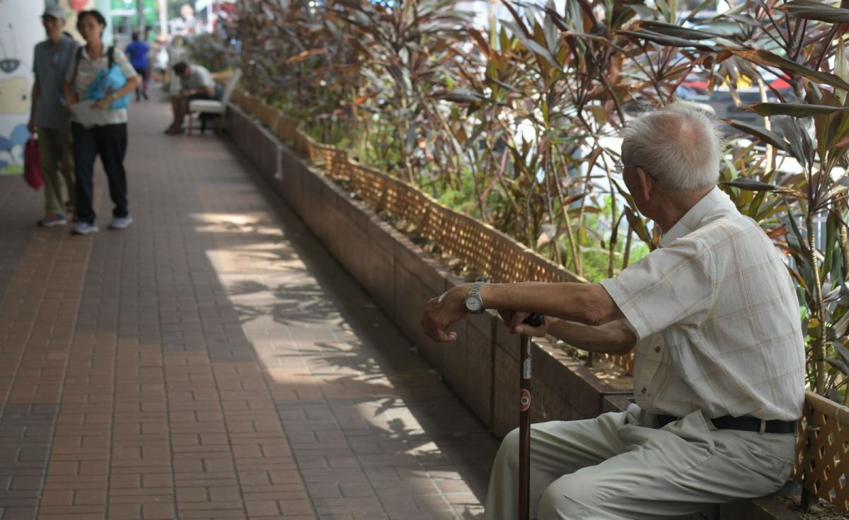 The number of elderly people is growing. Photo: HK Government